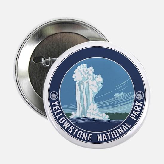 """Yellowstone Travel Souvenir 2.25"""" Button"""