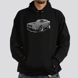 Roadrunner Grey Car Hoodie (dark)