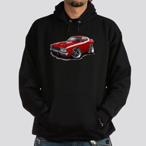 Roadrunner Red-White Car Hoodie (dark)