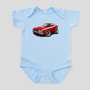 Roadrunner Red-White Car Infant Bodysuit