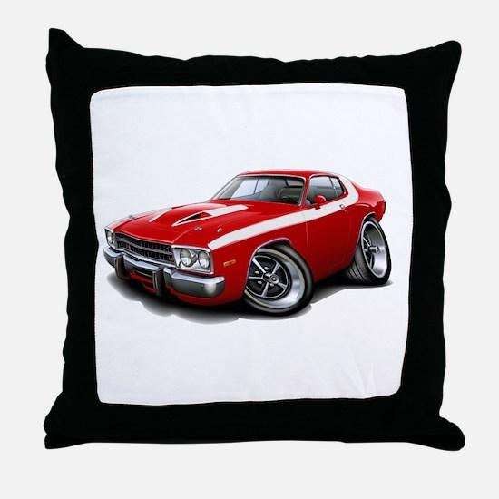 Roadrunner Red-White Car Throw Pillow