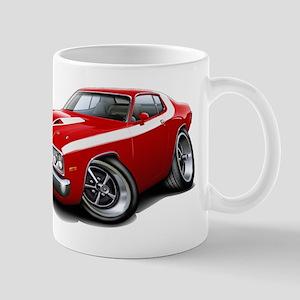 Roadrunner Red-White Car Mug