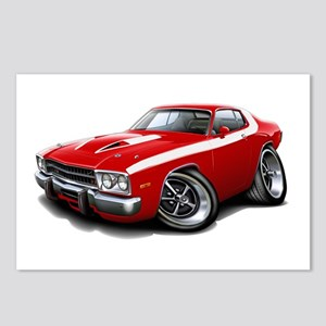 Roadrunner Red-White Car Postcards (Package of 8)