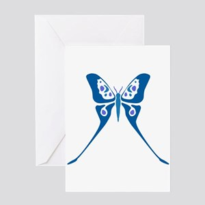 Butterfly Blue Tones Greeting Card