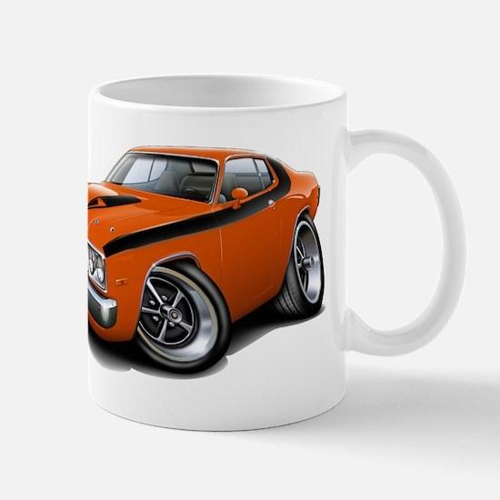 Roadrunner Orange-Black Car Mug