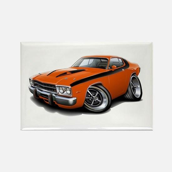 Roadrunner Orange-Black Car Rectangle Magnet