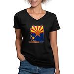 ILY Arizona Women's V-Neck Dark T-Shirt