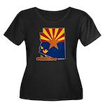 ILY Arizona Women's Plus Size Scoop Neck Dark T-Sh