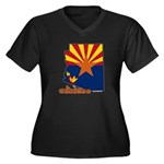 ILY Arizona Women's Plus Size V-Neck Dark T-Shirt