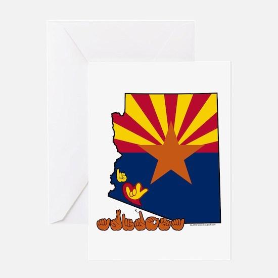 ILY Arizona Greeting Card