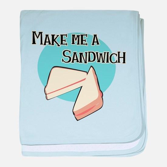 Make Me a Sandwich baby blanket