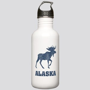 Retro Alaska Moose Stainless Water Bottle 1.0L