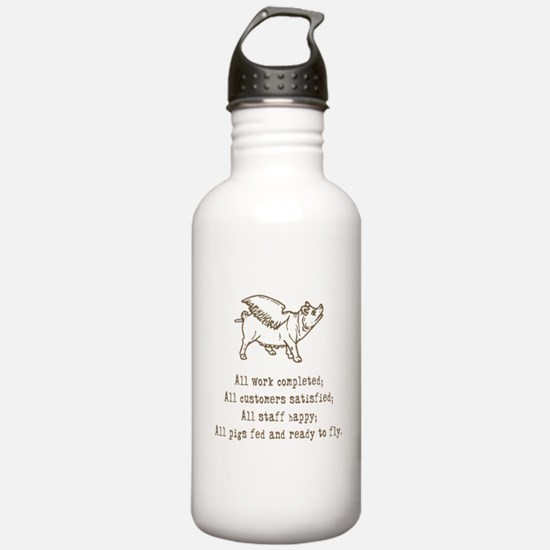 Pigs Ready to Fly Sports Water Bottle