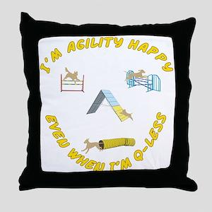 Agility Happy Throw Pillow