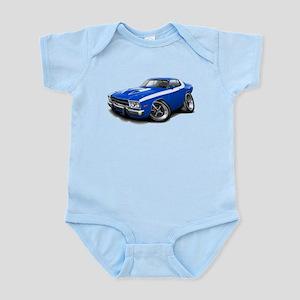 Roadrunner Blue-White Car Infant Bodysuit