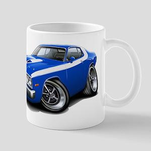 Roadrunner Blue-White Car Mug
