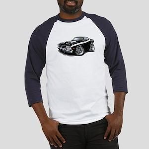 Roadrunner Black-White Car Baseball Jersey