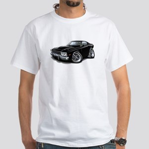 Roadrunner Black Car White T-Shirt