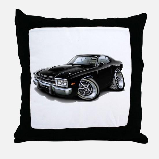Roadrunner Black Car Throw Pillow
