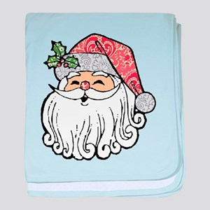 Patchwork Santa Claus baby blanket