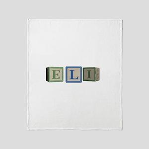 Eli Alphabet Block Throw Blanket