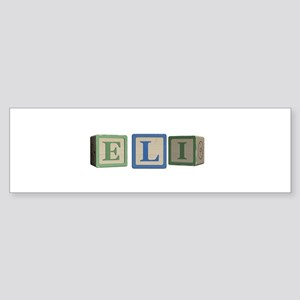 Eli Alphabet Block Sticker (Bumper)