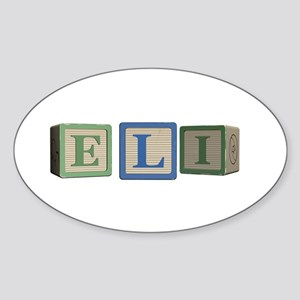 Eli Alphabet Block Sticker (Oval)