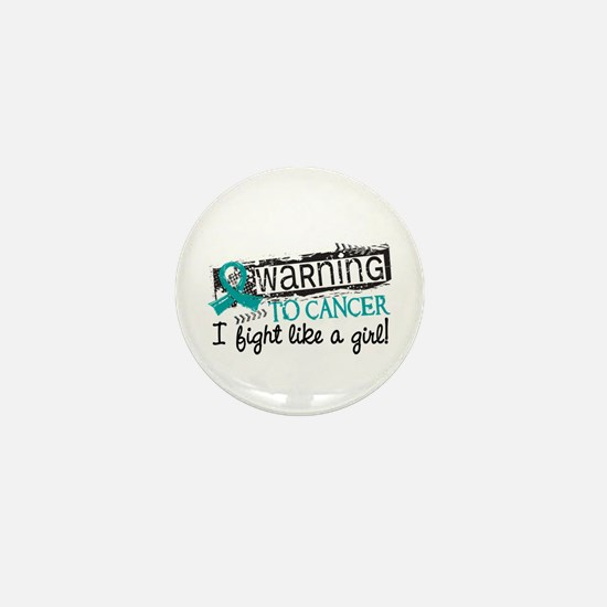 Licensed Fight Like A Girl Ovarian Can Mini Button