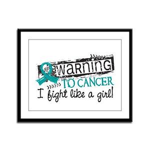 Licensed Fight Like A Girl Ovar Framed Panel Print