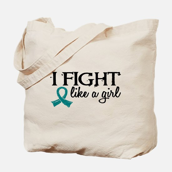Licensed Fight Like A Girl 18.7 Ovarian C Tote Bag