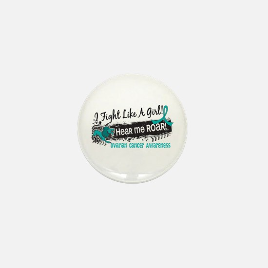 Licensed Fight Like A Girl 19.1 Ovaria Mini Button