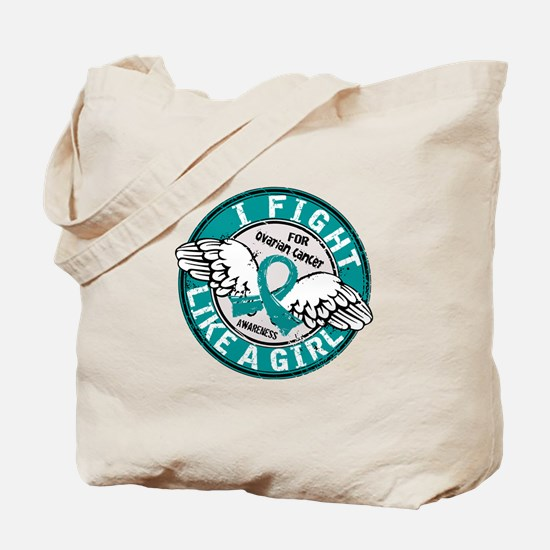 Licensed Fight Like A Girl 16.5 Ovarian C Tote Bag