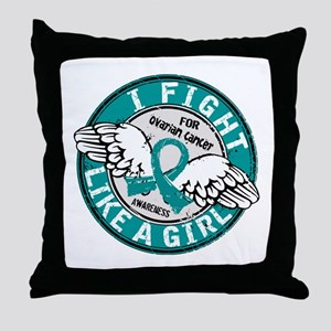 Licensed Fight Like A Girl 16.5 Ovari Throw Pillow