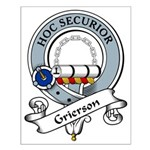 Grierson Clan Badge Small Poster
