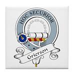 Grierson Clan Badge Tile Coaster