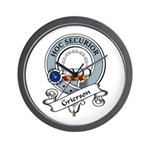 Grierson Clan Badge Wall Clock