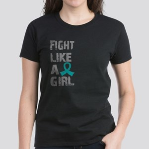 Licensed Fight Like A Girl 21 Women's Dark T-Shirt