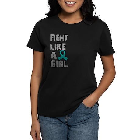 Licensed Fight Like A Girl 21 Women's Dark T-Shirt