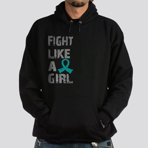 Licensed Fight Like A Girl 21.8 Ovar Hoodie (dark)