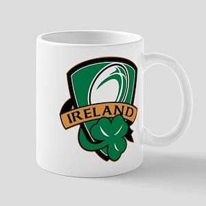 rugby ireland shamrock Mug