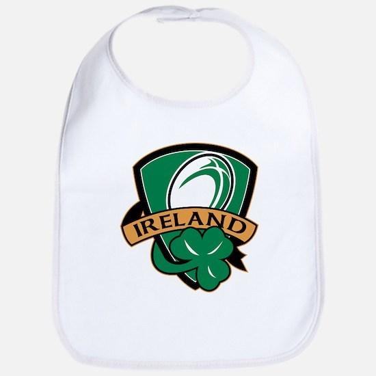 rugby ireland shamrock Bib