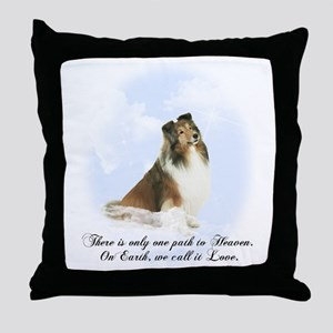 Heavenly Sheltie Throw Pillow