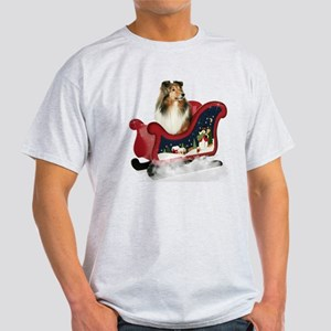Sheltie's Sleigh Light T-Shirt