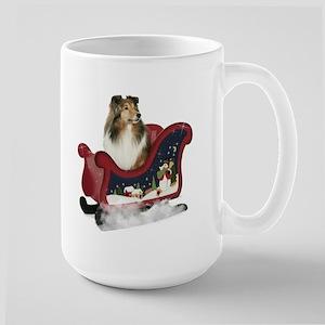 Sheltie's Sleigh Large Mug