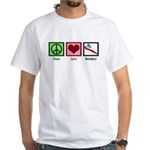 Peace Love Dentistry White T-Shirt
