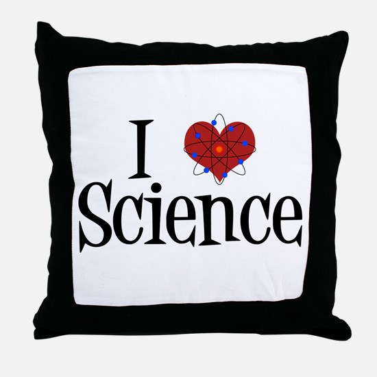 I Love Science Throw Pillow