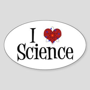 I Love Science Sticker (Oval)
