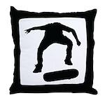 Skate On Throw Pillow