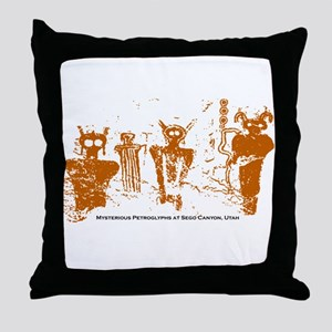Sego Canyon Glyphs Throw Pillow
