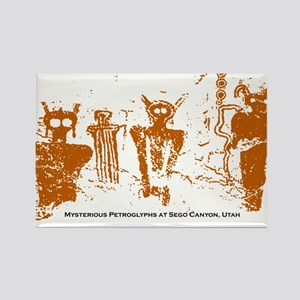 Sego Canyon Glyphs Rectangle Magnet